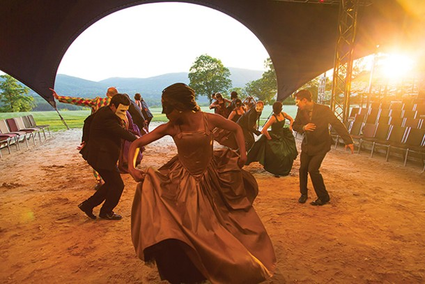 "An ensemble dance scene from the 2016 production of ""As You Like It"" at the Hudson Valley Shakespeare Festival - CHARLES ERICKSON"