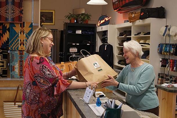 Barbara Schreiber and Susan Kravitz at Rhinebeck Department Store - JOHN GARAY