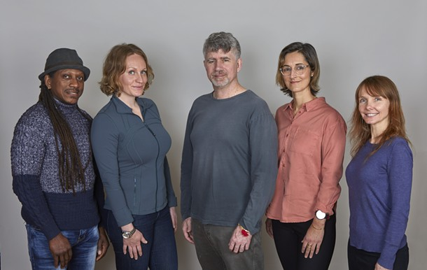 "The Samadhi team (left to right): Bryant ""Drew"" Andrews, Tara Sanders, David McNamara, Meghan Hetfield, Stacey Nodelman - ROBERT HANSEN-STURM"