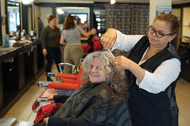 Susan Sprachman and Marie Marcasciano at Iconic Hair in Rhinebeck. - PHOTO: JOHN GARAY