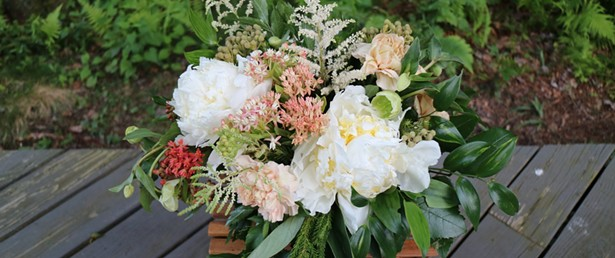 Bear Creek Farm specializes in dahlias and peonies.