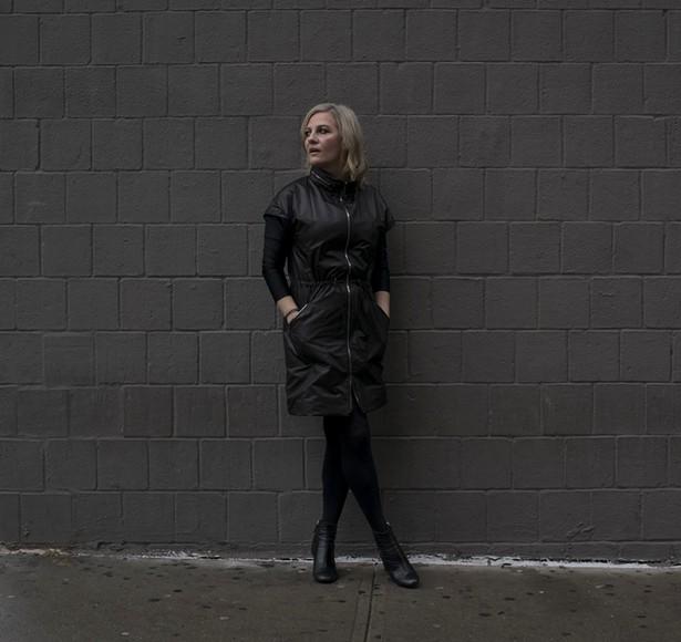 Designer Yuli Ziv in her versatile creation, the Ultima Dress. - ABIE TROEN