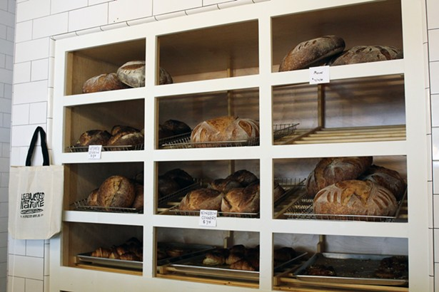 KB+B sells five different types of bread, with a rotating bread of the day. - ABBY FOSTER