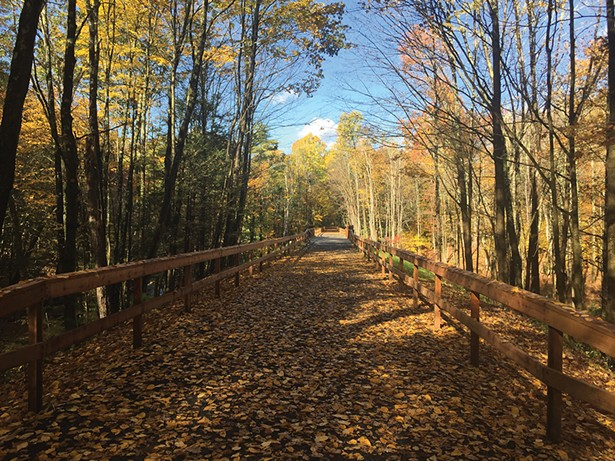 The Butternut Creek section of the Ashokan Rail Trail