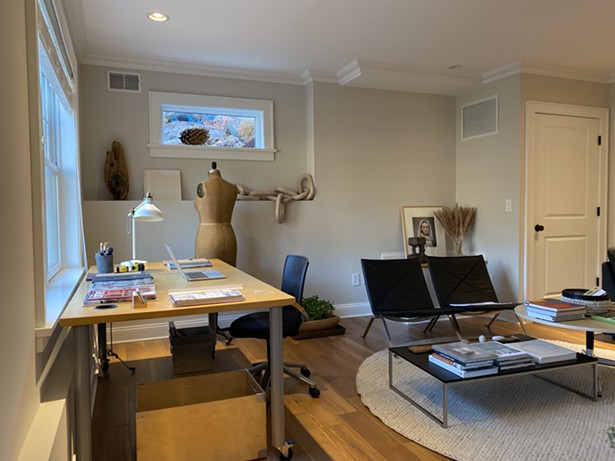 A home office designed by Simone Eisold at Reset Your Home, in a house she staged for sale. - RESET YOUR HOME