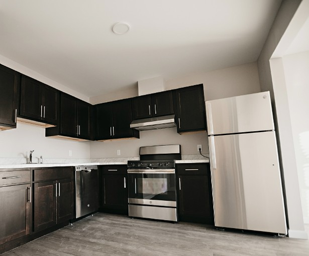 A newly installed kitchen at Fallkill Commons on Rose.