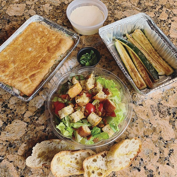 Take-out orders from Liberty Street Bistro in Newburgh.