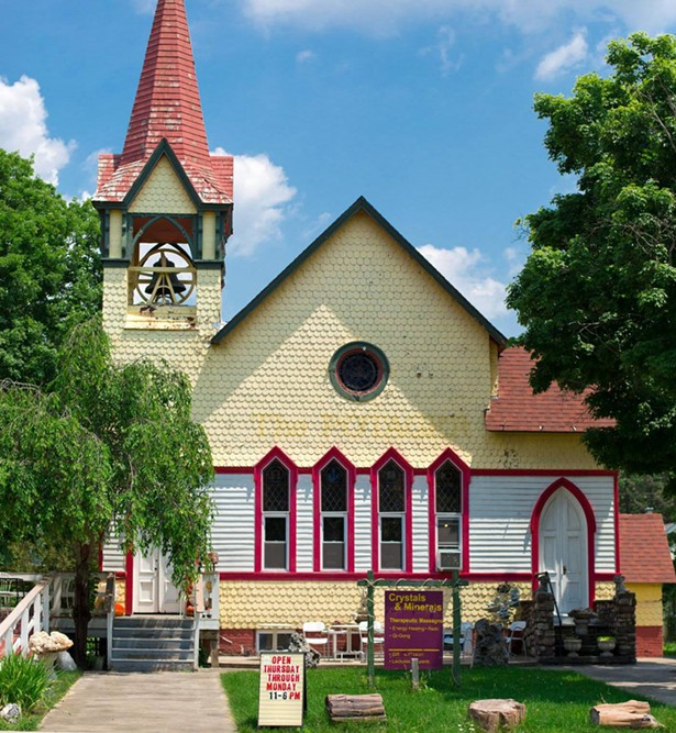 Crystal Connection is housed in a historic Wurtsboro Methodist church. - ALL IMAGES COURTESY CRYSTAL CONNECTION
