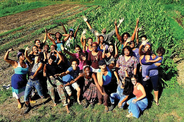 A gathering at Soul Fire Farm, a BIPOC-centered community farm committed to ending racism and injustice in the food system. - PHOTO: SOUL FIRE FARM