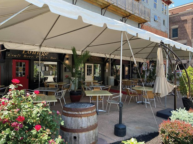 Outdoor seating at Grappa in Warwick. - PHOTO: BEA ARNER/WARWICK VALLEY CHAMBER OF COMMERCE