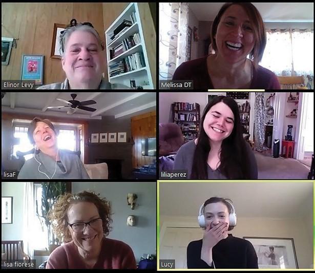 Arts Mid-Hudson staff on a Zoom meeting