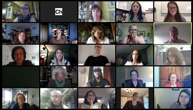 Participants on the Chronogram Conversations Arts Education During the Pandemic Zoom call on June 30.
