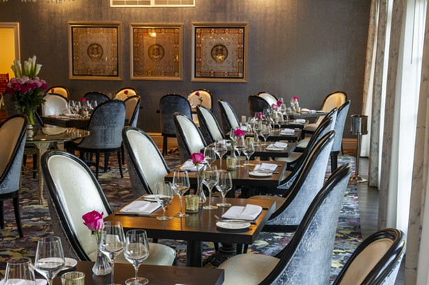 The dining room at Willow by Charlie Palmer