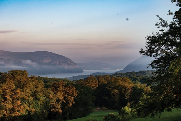The view from the Hudson Valley Shakespeare Festival's new home. - PHOTO BY AMY BROWN