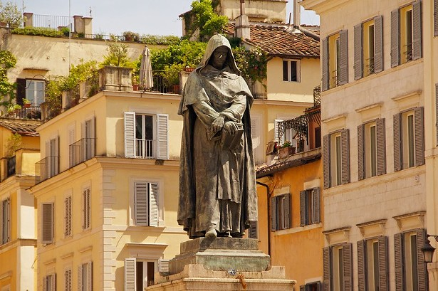 The statue of Giordano Bruno in Rome - PHOTO BY ED YOURDON VIA FLICKR