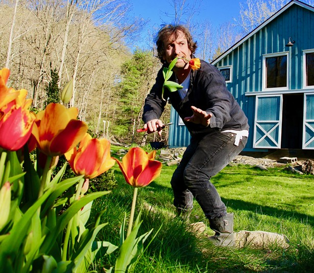 A still from one of FireDean's Zoom gardening classes