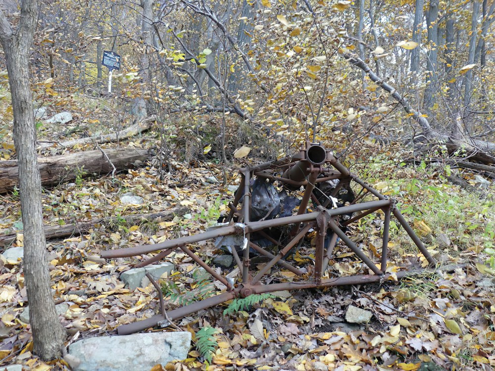 The remains of Dixie Kiefer's plane that crashed on Mount Beacon in 1946. - DAVID ROCCO