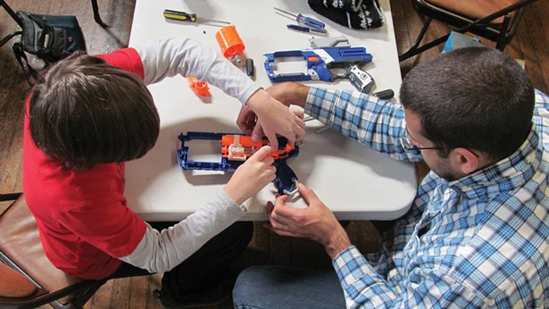 Scenes from Repair Cafes across the country. There are now more than 40 active cafes across the Hudson Valley—in libraries, town halls, churches, community centers, and co-working spaces— where skilled volunteers fix and mend beloved but broken items for their neighbors, for free.