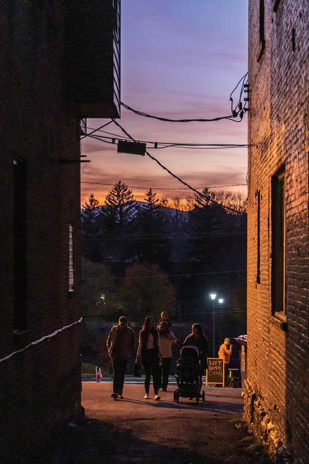 Outside of Left Bank Cider, another gorgeous sunset in Catskill. - PHOTO BY ALON KOPPEL
