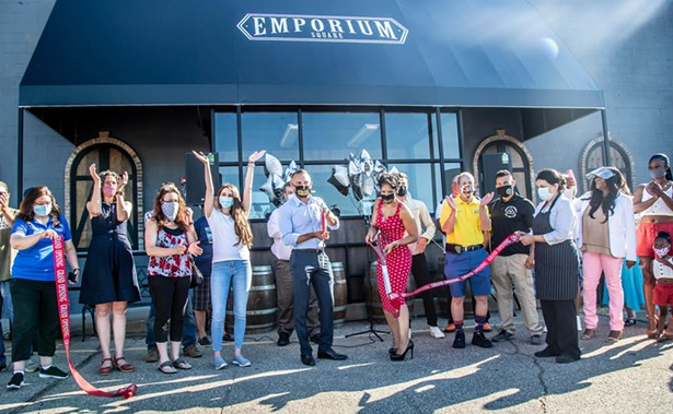 The grand opening of Emporium Square on August 1.