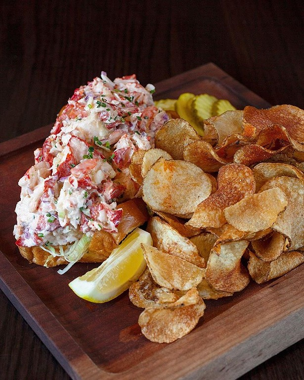 The drool-worthy lobster roll from Mill House Brewing. - COURTESY OF MILL HOUSE BREWING COMPANY