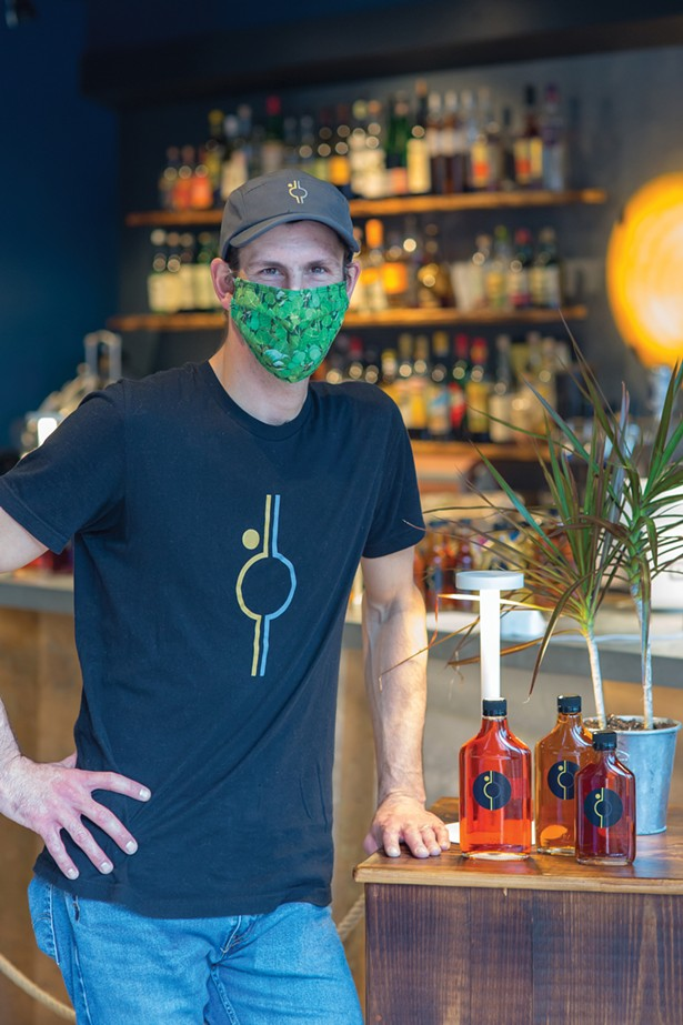 Billy Jack Paul, co-owner and mixologist at Mooncloud, which opened on Railroad Street in December 2019. - PHOTOS BY BILL WRIGHT