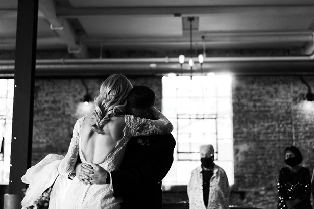 Megan and Bradley tied the knot at the Senate Garage in 2020. - PHOTO BY KAMP WEDDINGS