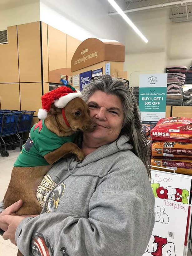 Lori Iribarren at an adoption event at PetSmart in Middletown in December 2019.