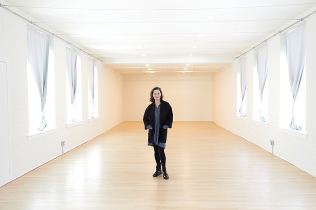 Jennifer Hicks inside 11 Jane Street, the art gallery and creative space she opened in 2019. Currently closed, the gallery will reopen with a show of Norm Magnusson's work in May. - DAVID MCINTYRE