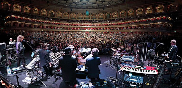 From the stage of King Crimson's three-night stand at Royal Albert Hall, in 2019.