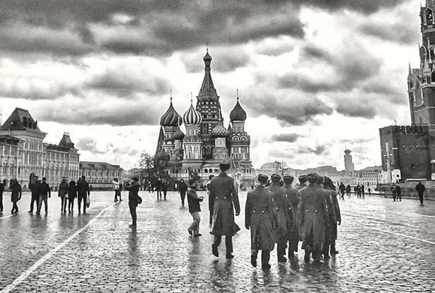 Red Square, Moscow in 2014, on tour with The Crimson Project.
