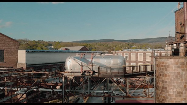 The Shining, a re-purposed Airstream trailer, part of - Michael Oatman's all utopias fell project on long-term - view at MASS MoCA. - FILM STILLS COURTESY OF THE OFFICE ARTS