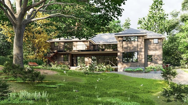 Proposed design for a single and two-family flexible use Passive House upstate. - IMAGES COURTESY OF CHOSHIELDS STUDIO