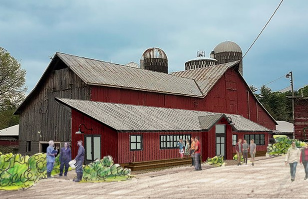 Rendering of an addition to a 260-year-old barn. - IMAGES COURTESY OF CHOSHIELDS STUDIO