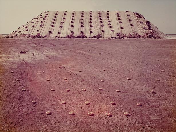 Salt Pile with Bagels, South Buffalo, NY, 1976, by John Pfahl