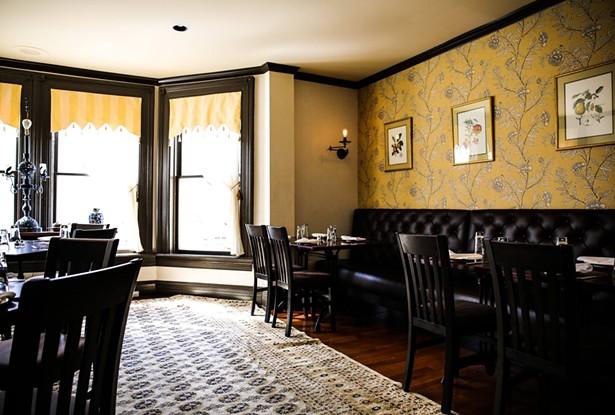 The tearoom at the Millerton Inn.
