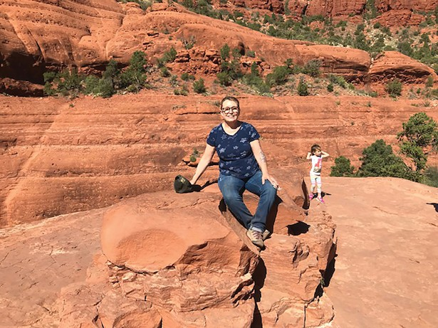 Linda Weaver in Sedona, Arizona, six months after contracting COVID in March 2020. Mostly recovered, she still deals with lingering gastrointestinal symptoms.