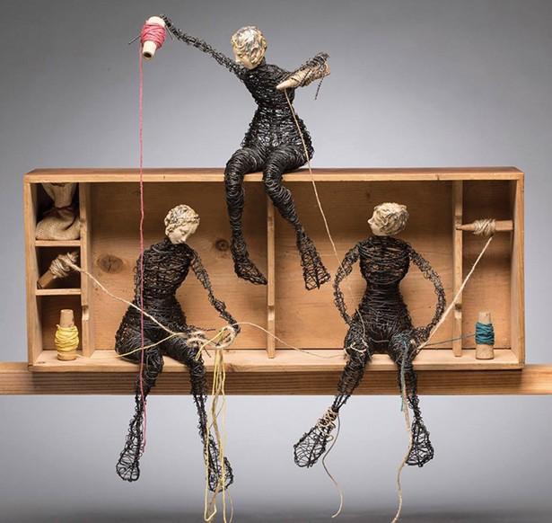 Three Figures, Weaving, Alison Eriksen