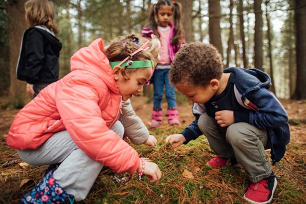Exploration of the natural world is a year round activity at Homestead School. - PHOTO BY ERIN WITKOWSKI