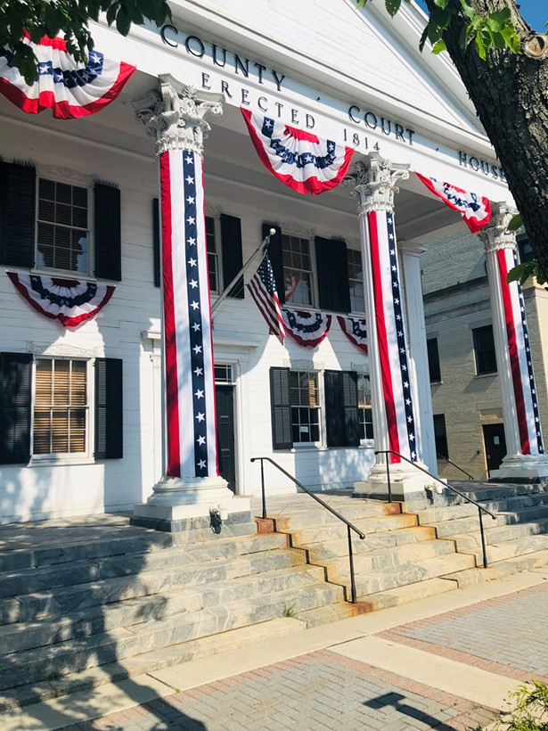 The Putnam County Courthouse decorated in red, white, and blue for Memorial Day - ALL IMAGES COURTESY OF PUTNAM COUNTY TOURISM