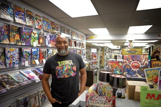Jean Michel, co-owner of Megabrain Comics & Arcade - DAVID MCINTYRE