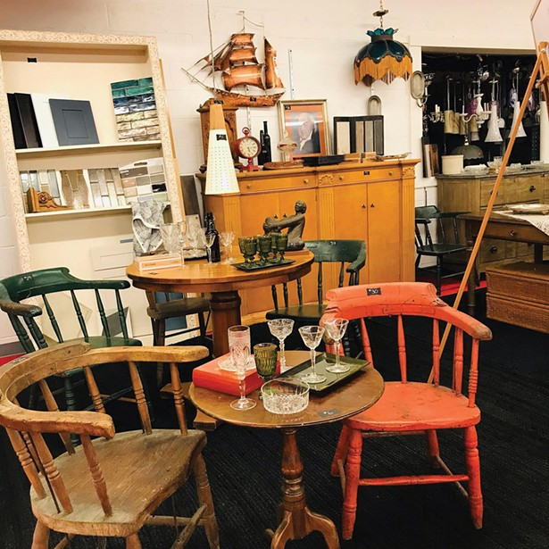 Captain's chairs from the DePuy Canal House at Ulster Habitat ReStore on Route 28 in Kingston.