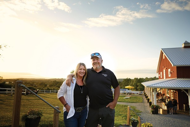 Jill and Steve Penning. Penning's Farm Market began in 1983 as a seasonal farm stand and has since expanded into an agritourism destination with garden center, pub, grill, ice cream stand, bakery, and beer garden. - DAVID MCINTYRE