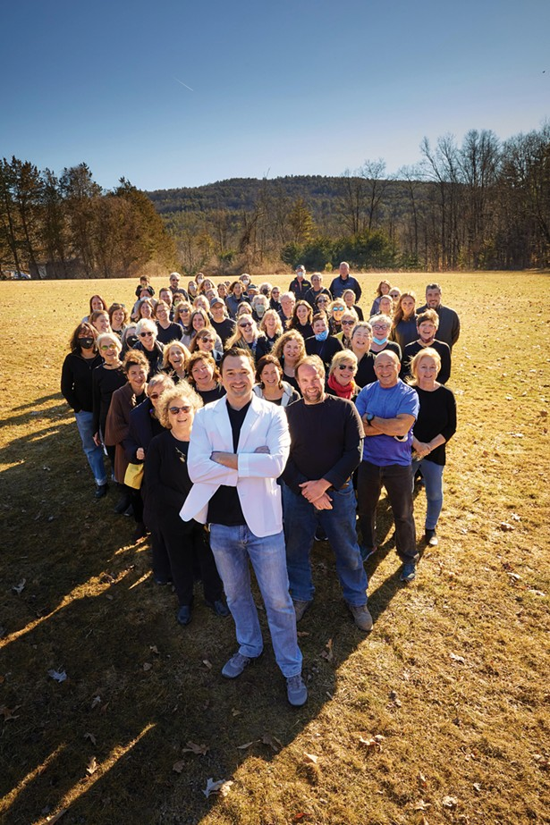 Village Apothecary staff and COVID-19 vaccine volunteers. - FRANCO VOGT