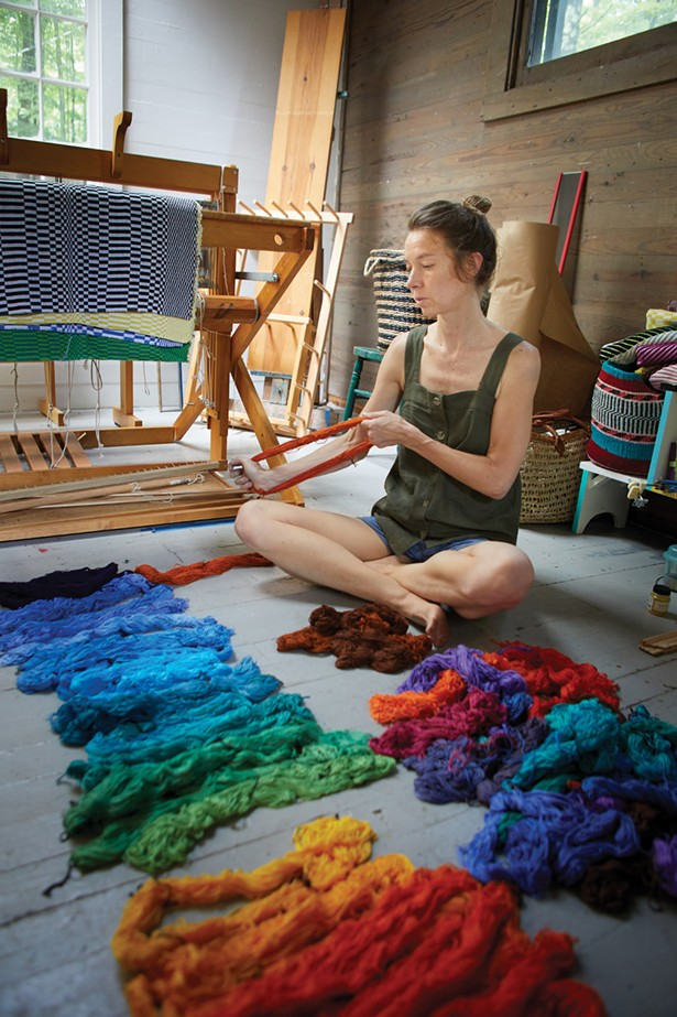 Samantha Bittman, textile artist in residence at Byrdcliffe Arts Colony. - DAVID MCINTYRE