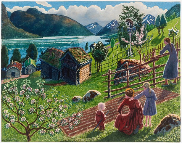 Growing Season at Sandalstrand by Nikolai Astrup