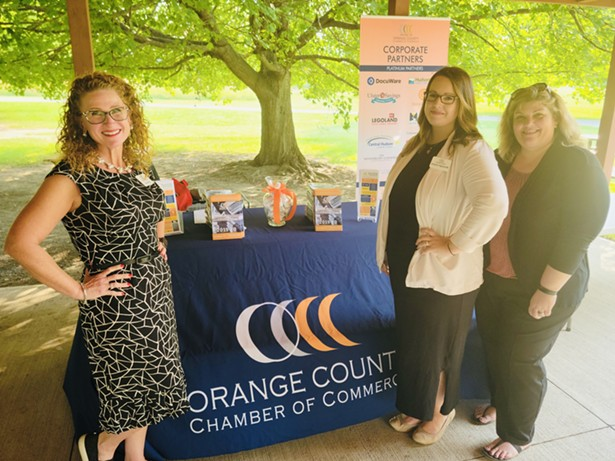 The Orange County Chamber of Commerce staff supporting the Orange County Arts Council at its Creative Impact event