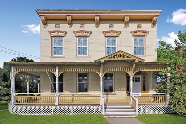 Listed with Halter Associates Realty, this spacious, light-filled circa 1875 Italianate brick townhome has beautiful period details and is within walking access to everything the Village of Saugerties has to offer