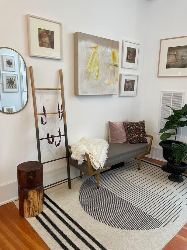 Pinkwater Gallery features artwork and furnishings in a home-style atmosphere. - IMAGES COURTESY OF PINKWATER GALLERY