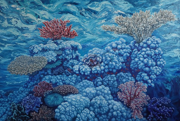 "Nikolina Kovalenko, ""A Good Coral Day"" - IMAGES COURTESY OF 2ECOND SATURDAY GALLERY CRAWL"